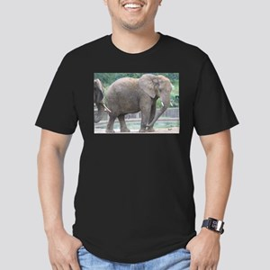 Elephant Men's Fitted T-Shirt (dark)