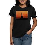 Statue of Liberty Silhouette Women's Dark T-Shirt