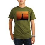 Statue of Liberty Silhouette Organic Men's T-Shirt