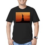 Statue of Liberty Silhouette Men's Fitted T-Shirt