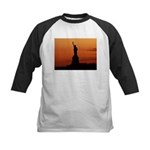 Statue of Liberty Silhouette Kids Baseball Jersey