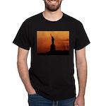 Statue of Liberty Silhouette Dark T-Shirt