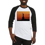 Statue of Liberty Silhouette Baseball Jersey