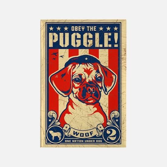 Obey the PUGGLE! USA propaganda Magnet