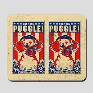 Obey the PUGGLE! USA Freedom Mousepad