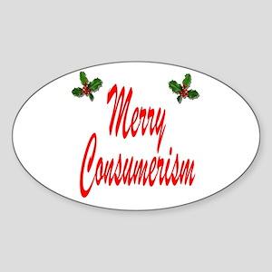 Merry Consumerism Oval Sticker