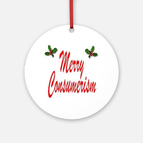 Merry Consumerism Ornament (Round)