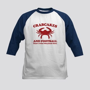 Crabcakes and Football Kids Baseball Jersey
