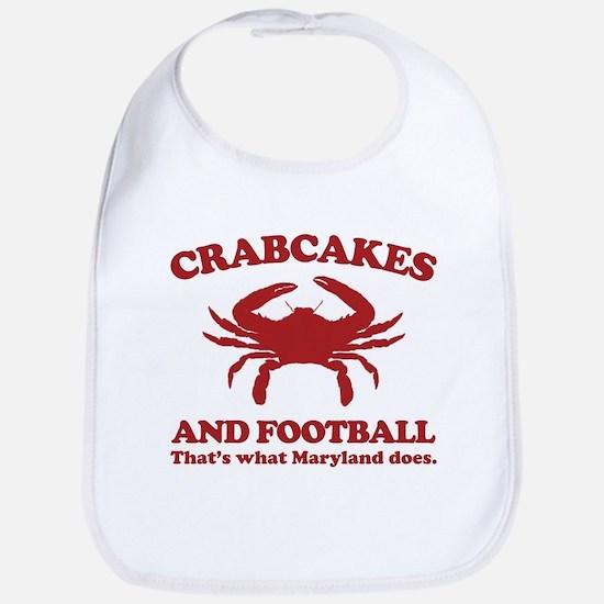 Crabcakes and Football Bib