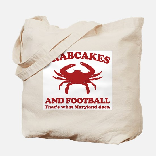 Crabcakes and Football Tote Bag
