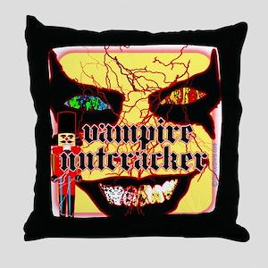 Vampire Nutcracker Throw Pillow