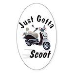 Just Gotta Scoot Joker Oval Sticker