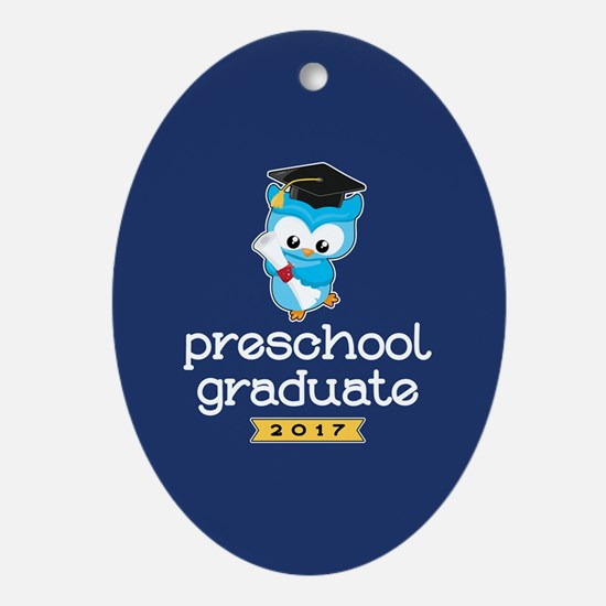 Preschool Grad 2017 Oval Ornament