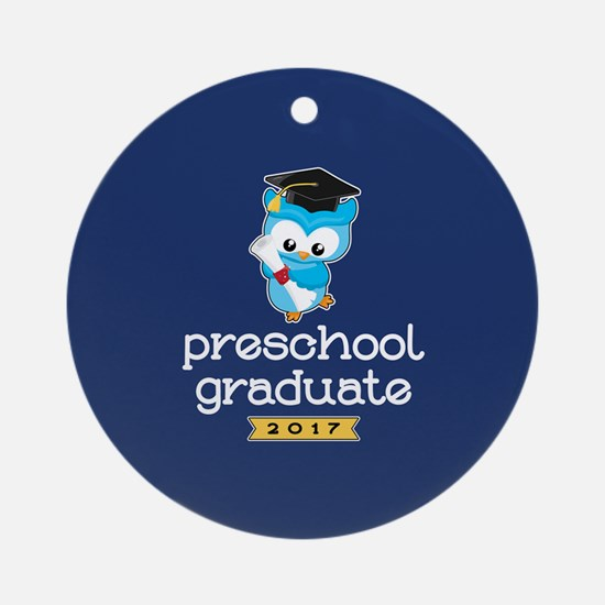 Preschool Grad 2017 Round Ornament