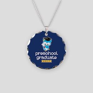 Preschool Grad 2017 Necklace Circle Charm