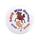"Bay Stallion & Lion Roar for ROAM 3.5"" Button (100"