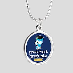 Preschool Grad 2017 Silver Round Necklace