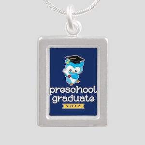 Preschool Grad 2017 Silver Portrait Necklace
