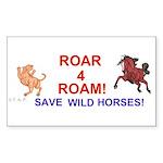 Bay Stallion & Lion Roar for ROAM Sticker (Rectang