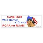 Horse Head Roar for Roam Bumper Sticker (50 pk)