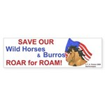 Horse Head Roar for Roam Bumper Sticker (10 pk)