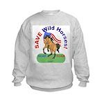 Buckskin Wild Horse ROAR for ROAM Kids Sweatshirt