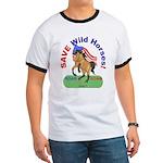 Buckskin Wild Horse ROAR for ROAM Ringer T
