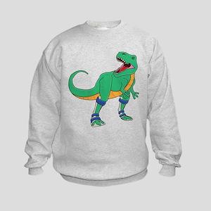 Dino with Leg Braces Kids Sweatshirt
