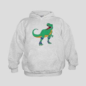 Dino with Leg Braces Kids Hoodie