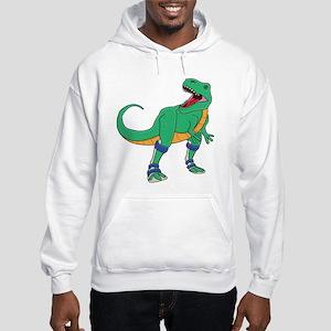 Dino with Leg Braces Hooded Sweatshirt