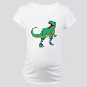 Dino with Leg Braces Maternity T-Shirt