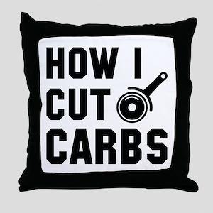 How I Cut Carbs Throw Pillow
