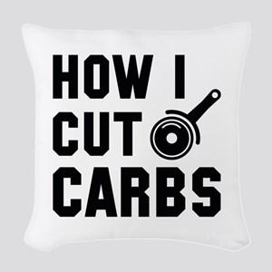 How I Cut Carbs Woven Throw Pillow