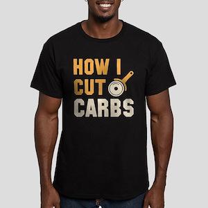 How I Cut Carbs Men's Fitted T-Shirt (dark)