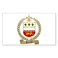 TERRIOT Family Crest Rectangle Decal