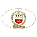 TERRIOT Family Crest Oval Sticker (10 pk)