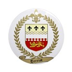 TERRIOT Family Crest Ornament (Round)