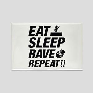 Eat Sleep Rave Repeat Rectangle Magnet