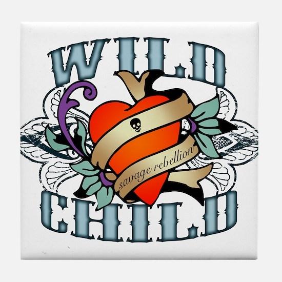Wild Child Tile Coaster