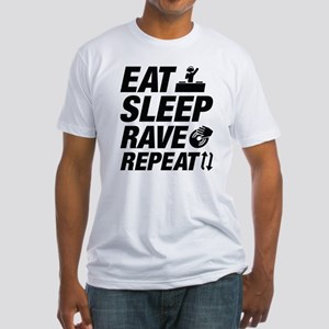 Eat Sleep Rave Repeat Fitted T-Shirt