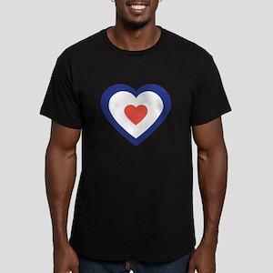 Mod Target Heart Men's Fitted T-Shirt (dark)
