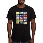 Mixtapes Color Cassette Men's Fitted T-Shirt (dark