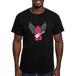 Angel Rocker Men's Fitted T-Shirt (dark)