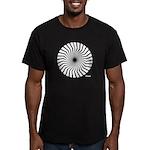 Retro Mod Spiral Men's Fitted T-Shirt (dark)