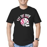 Eat the Rich Skull Men's Fitted T-Shirt (dark)