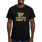 Babylon Enemy #1 Retro Men's Fitted T-Shirt (dark)