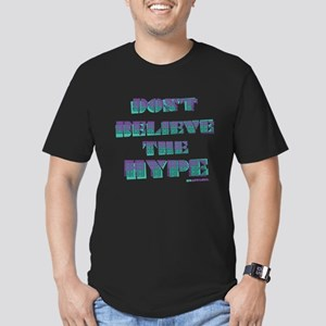 Dont Believe the Hype Men's Fitted T-Shirt (dark)