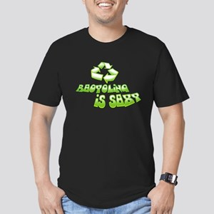 Recycling is Sexy Men's Fitted T-Shirt (dark)