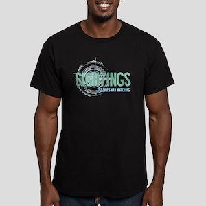 Sigh7ings UFO Slogan Men's Fitted T-Shirt (dark)
