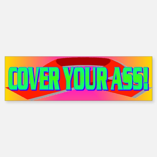 COVER YOUR ASS! Sticker (Bumper)